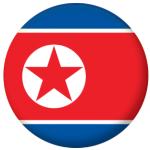 North Korea Country Flag 25mm Flat Back